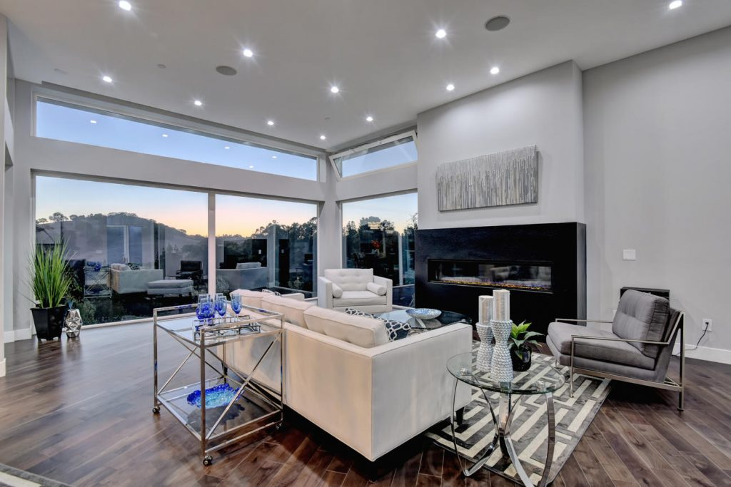 Endless views abound in this house with expansive custom aluminum window and door systems