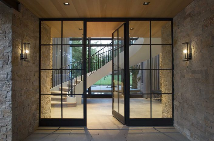 The Behi inswing steel door from Brombal makes for a grand entrance