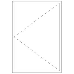Representation of a minimal frame casement unit