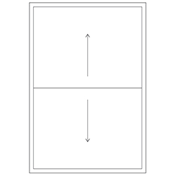 Representation of a double hung window
