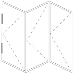 Representation of a folding window