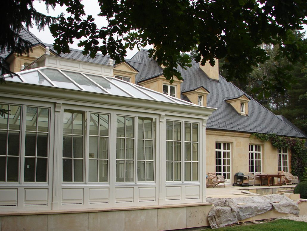 Traditional home accentuated by Pinus custom wood windows and doors
