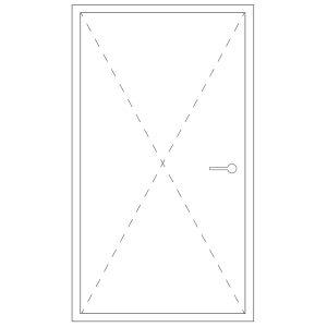 Representation of a pivot door