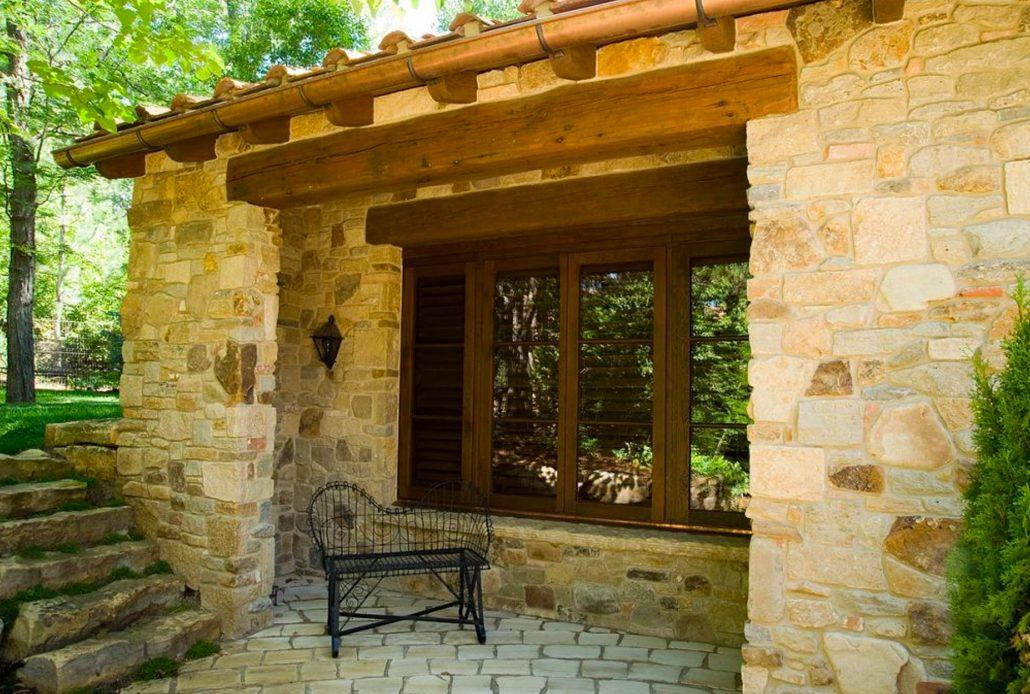 A custom wood push out casement window by Veranda View