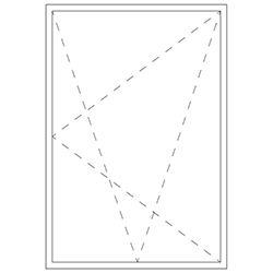 Representation of a tilt turn window