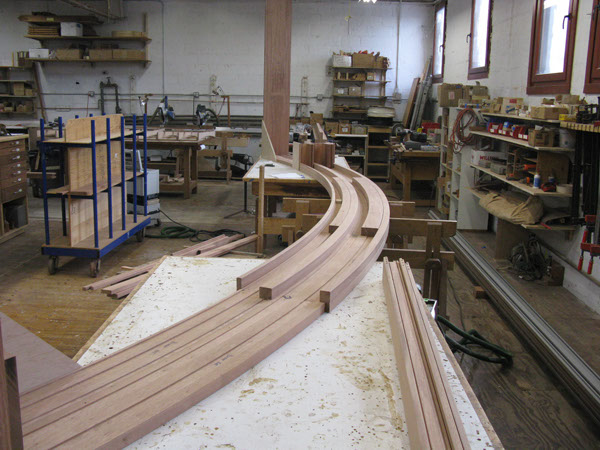 A look at the manufacturing of a curved wood door frame