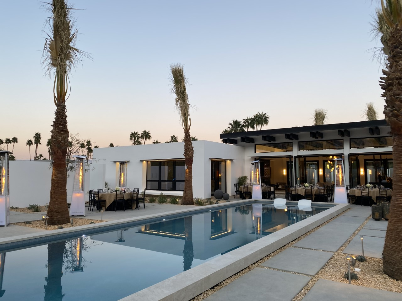 This contemporary Palm Springs house features custom black aluminum windows and doors from SPI Finestre