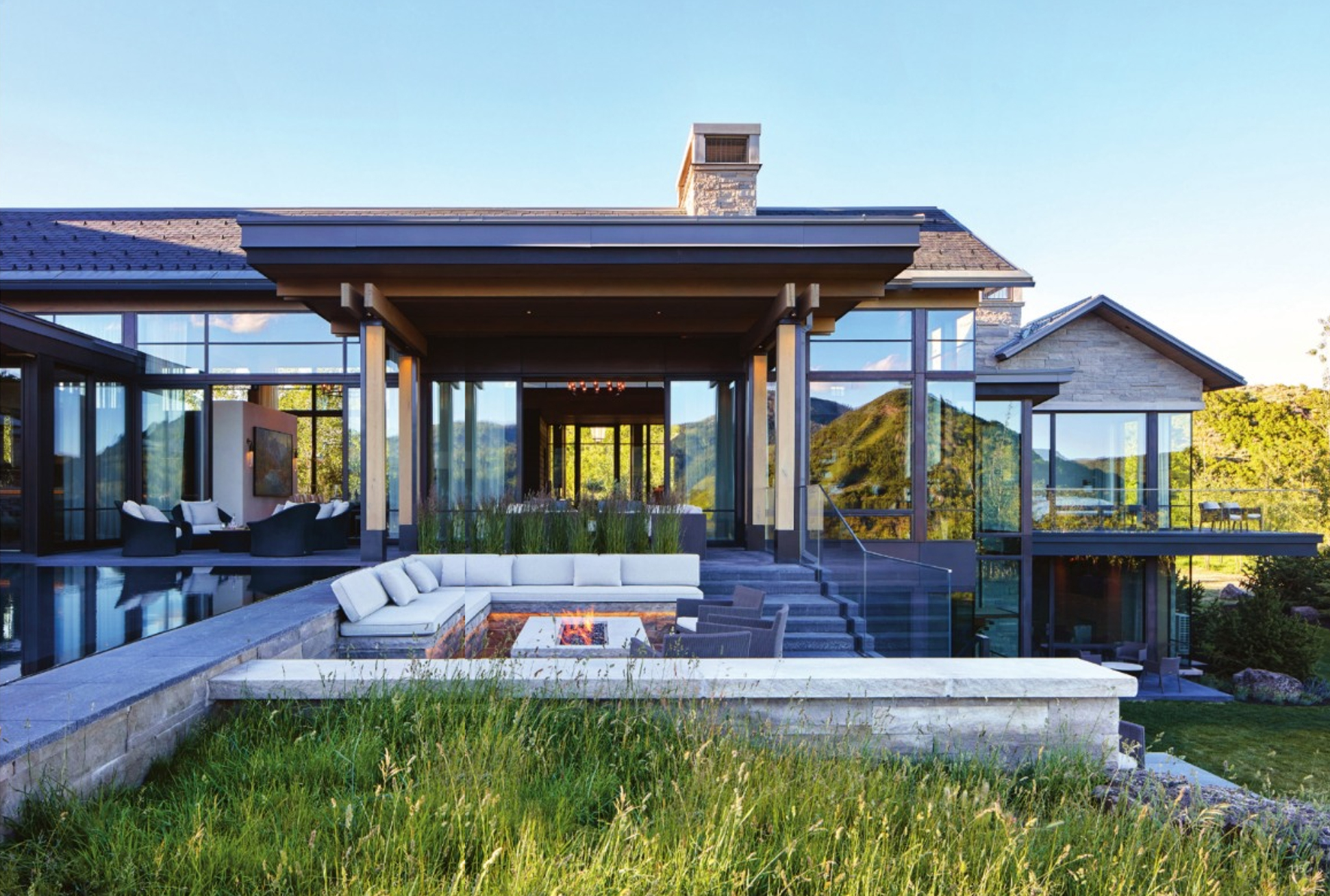 This stunning Park City, UT retreat features Brombal Italian windows and doors and won Mountain Living's Home of the Year award