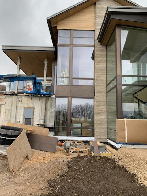 Thermally broken steel windows are being installed in this mountain retreat in Park City, Utah.