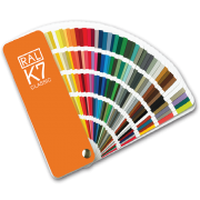 RAL color fan for an aluminum window and door system
