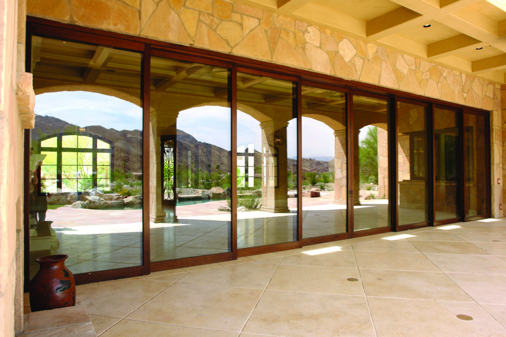 eight panel wood lift and slide door