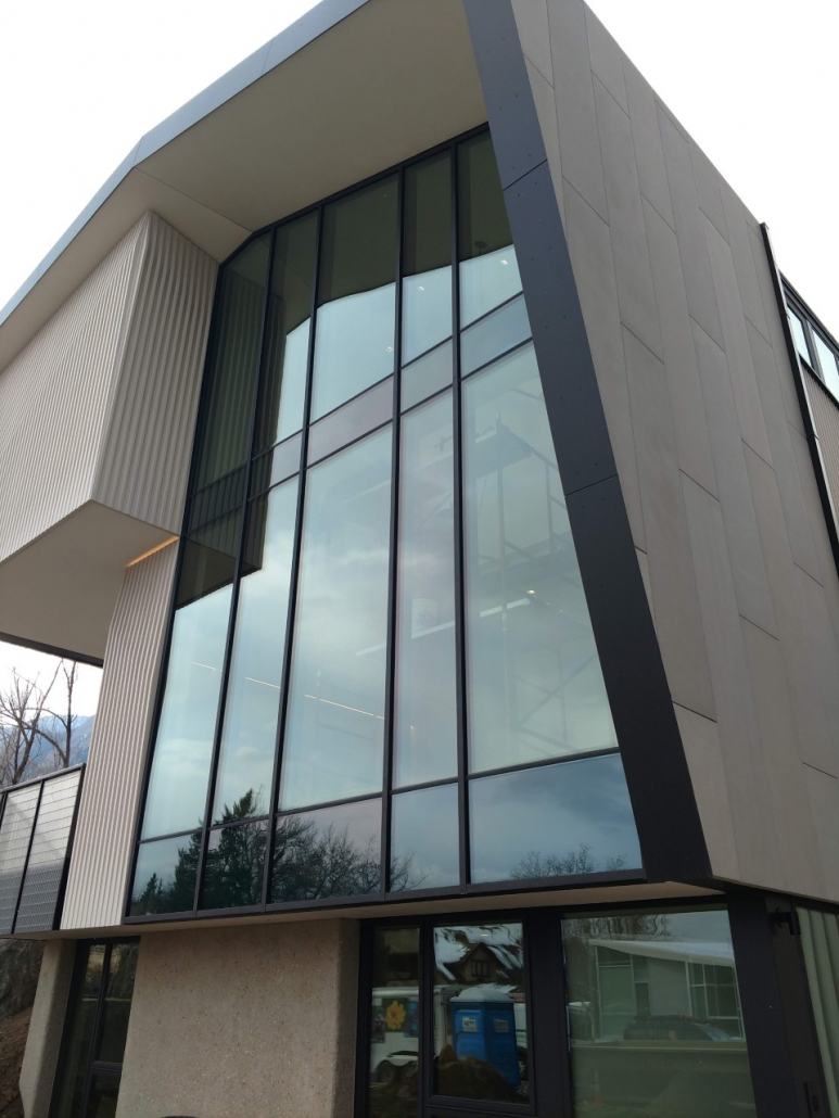 Brombal steel curtain wall supplied and installed by Veranda View